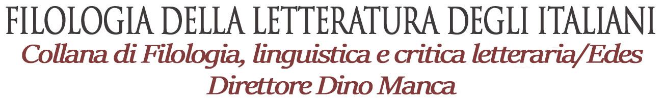 Filologia Italiana - Collana di libri sulla Filologia -